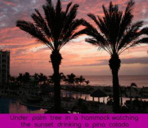 los cabos palm trees pina colada