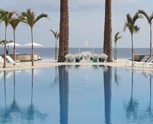 pool ocean los cabos wedding