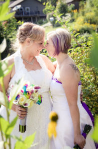 2_brides_summer_wedding_rainbow_roses