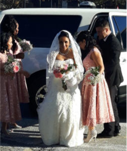 fall wedding_limo_blush